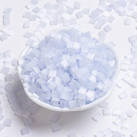 MIYUKI TILA Beads, Japanese Seed Beads, 2-Hole, (TL2563) Silk Pale Light Lavender, 5x5x1.9mm, Hole: 0.8mm; about 118pcs/10g