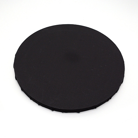 NBEADS Linen Stretched Blank Canvas Panels, with Wooden Frame, for Painting, Oil Paint, Flat Round, Black, 30x1.55cm