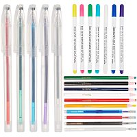 BENECREAT 26Pcs Mixed Tailoring Marker Tool Sets, Including 7Pcs Disappearing Ink Fabric Marking Pen, 5Pcs Heat Erasable Fabric Marking Pen with 8 Pcs Refills, 6Pcs Oily Tailor Chalk Pens for Quilting Sewing and Dressmaking