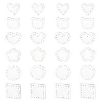 Transparent Acrylic Weaving Board, Weaving Material, for Knitting Bag, Women Bags Handmade DIY Accessories, with Bead Container, Clear, 7.4x7.3x2.5cm, about 60pcs/box