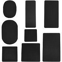 PandaHall Elite Handbag Base Shaper, 8 Styles Black Plastic Rectangle/Square/Oval Bag Liner for Hand Bag Tote Purse Handbag Bottom, 8 PCS/Set
