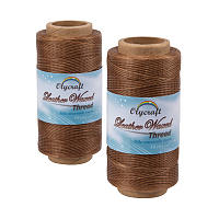 Olycraft Waxed Polyester Cord, Camel, 0.8mm; about 260m/roll