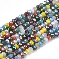 ARRICRAFT Electroplate Glass Beads Strands, AB Color Plated, Faceted, Rondelle, Mixed Color, 2mm, Hole: 0.7mm, about 188~198pcs/Strand, 12.60 inches~13.11 inches(32~33.3cm)