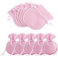 Velvet Jewelry Bag, Hot Pink, 90x70mm