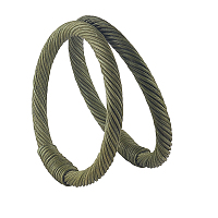 Rattan Purse Handles, for Bag Making, Purse Making, Handle Replacement, Ring, Dark Olive Green, 127x12~16mm