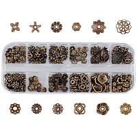 SUNNYCLUE Iron & Alloy Bead Caps, Flower, Antique Bronze, 130x50x15mm, 240pcs/box