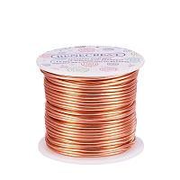 BENECREAT 18 Guage Aluminum Wire Length 492FT Anodized Jewelry Craft Making Beading Floral Colored Aluminum Craft Wire - Copper