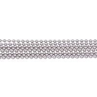 PandaHall Elite 2 Yard 316 Stainless Steel Ball Beaded Decorative Chains for Necklace Size 2.5mm Jewelry Making Chain