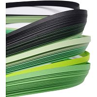 arricraft 10 Bags Green 6 Colors Quilling Paper Strips Gradual Color for DIY Crafts Home Decoration, 390x3mm, About 120strips/bag, 20strips/Color