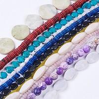 "NBEADS Natural Gemstone Beads Strands, Mixed Shapes(Random Shape), 4~60x4~57mm, Hole: 1~2mm, 14.5""~15.1""(37~38.5cm)"
