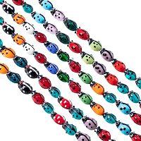 "Pandahall Elite 10 Strands Millefiori Lampwork Glass Beads Ladybug Spacer Bead for Jewelry Making 11.8"" (200pcs)"