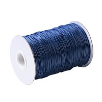 NBEADS 1 Roll 100 Yards 2mm Midnight Blue Beading Cords and Threads Crafting Cord Korean Waxed Polyester Thread for Jewelry Making Bracelet