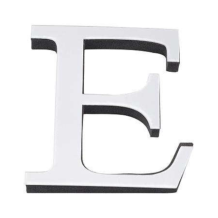 CREATCABIN Acrylic Mirror Wall Stickers Decal, with EVA Foam, Alphabet, Letter.E, 100x91x1mm, Foam: 100x91x10.5mm