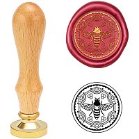 PandaHall Elite Bee Wax Seal Stamp, Sealing Wax Stamp for Invitations Embellishment, Envelopes, Wine Packages Bottle Decoration Gift Packing, Thanksgiving Party Favors