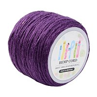 ARRICRAFT 1 Roll(100m, about 100 Yards) Purple Colored Jute twine Jute String for Jewelry Making Craft Project, 2mm