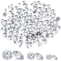 PandaHall Elite 150pcs Cubic Zirconia Charms, Faceted, Clear Glass Diamonds for Jewelry Making, 7.4x7.2x1.7cm