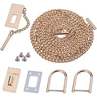Arricraft Alloy Bag Findings Sets Including 46 Inch Bag Strap Chain with Lock Clasps, Metal Bag Strap Replacement Bag DIY Accessory, Golden