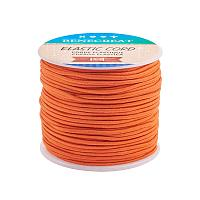 BENECREAT 2mm 55 Yards Elastic Cord Beading Stretch Thread Fabric Crafting Cord for Jewelry Craft Making (DarkOrange)