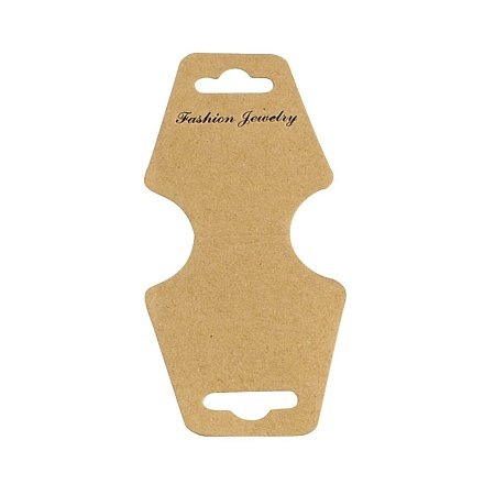 NBEADS 1000 Pcs Cardboard Display Cards, Used for Necklace, Bracelet and Mobile Pendants, Camel, 124x46x0.3mm