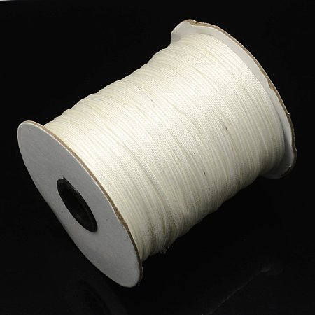 NBEADS 1mm 200 Yards/Roll White Beading Cords Threads Crafting Cord Korean Waxed Polyester Thread Jewelry Making Bracelet