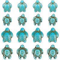 NBEADS 210 Pcs 2 Sizes Turtle Turquoise Beads Tortoise Turtle Charm Howlite Gemstone Stone Spacer Beads for Jewelry Making DIY Bracelet Necklace