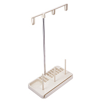 PandaHall Elite Embroider Thread Stand - 3 Spools Embroidery Spools Bobbin Sewing Machine Holder Rack for Home Quilting Sewing Machine Accessories