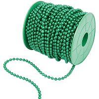 PandaHall 30m Green Color Acrylic Imitation Beads Pearl String of Pearls Bead Christmas Tree Beads Garland Chain for Christmas Wedding Decoration DIY Craft Making