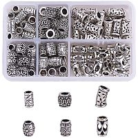 Arricraft 6 Style European Large Hole Spacer Beads, 120pcs Tibetan Silver Column Jewelry Spacers for Bracelet Necklace DIY Jewelry Making, Cadmium Free & Lead Free