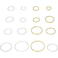 Arricraft 240 pcs 8 Sizes 10/12/14/16/18/20/22/25mm Round Open Back Bezel Charms Pendants Hollow Frame Pendant for Resin Earring Bracelet Pendant Necklace Jewelry DIY Craft Making, Golden/Silver