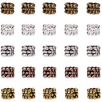 Arricraft 200pcs 5 Color European Large Hole Spacer Beads Rondelle Metal Spacers Lead Free and Cadmium Free with 5mm Hole for DIY Jewelry Craft Making