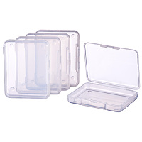 BENECREAT 18 Pack Rectangle Clear Plastic Bead Storage Containers Box Drawer Organizers with lid for Items, Earplugs, Pills, Tiny Bead, Jewelry Findings - 2.63x2x0.47 Inches
