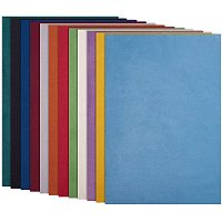 BENECREAT 12 Pack 7.8x11.5 Mixed Color Double Sided Velvet Soft Fabric Sheet for Handicraft DIY Bags Wallet Glasses Cloth Craft Projects