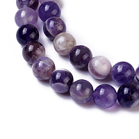 Olycraft Natural Amethyst Beads Strands, Round, 8mm, Hole: 1.2mm; about 50pcs/Strand, 15.94 inches(40.5cm)