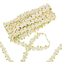 Gorgecraft Flower Polyester Trim Ribbon, for Curtain Lace Trimmings, Misty Rose, 3/4 inches(20mm)