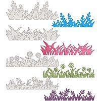 BENECREAT 4PCS Carbon Steel Cutting Dies Grass and Flower Pattern Metal Die Cuts Metal Stencil Template for DIY Crafts Scrapbook Album Paper Card Embossing