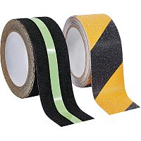 BENECREAT 2 Rolls 2 Inch 32 Feet Anti Slip Safety Tape Luminous Non-Slip Tape for Stairs Steps Decking Indoor and Outdoor (16 Feet/Roll)