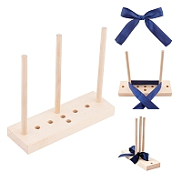 Bow Maker for Ribbon, Wooden Wreath Bow Maker Tool, with Specification, BurlyWood, 150~178x58x9x18mm, Box: 18x9x2cm
