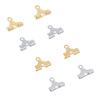 Unicraftale 304 Stainless Steel Findings, Mixed Color, 9x10x2.5mm, Hole: 1.2 & 1.5mm; 40pcs/color, 2 colors, 80pcs/box