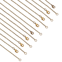 Iron Cable Chain Necklace Making, with Lobster Claw Clasps, Antique Bronze, 16 inches, 24pcs/box