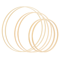 NBEADS DIY Needle Craft Tool, Bamboo Embroidery Hoops, Cross Stitch Frame, Bamboo Circle Cross Stitch Hoop Ring, Mixed Color, 20.1x0.95cm; Inner Diameter: 19.4cm, 6pcs/set