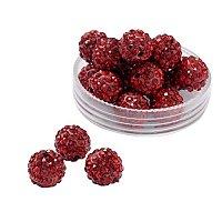 ARRICRAFT 100 Pcs 10mm Siam Shamballa Pave Disco Ball Clay Beads, Polymer Clay Rhinestone Beads Round Charms Jewelry Makings