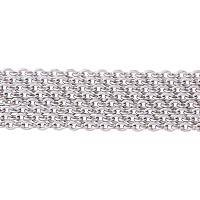 PandaHall Elite 2 Yard 316 Stainless Steel Cross Rolo Chains for Necklace Size 1.5x1.5mm Jewelry Making Chain