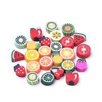 ARRICRAFT Handmade Polymer Clay Cabochons, Fruit, Mixed Color, 9x7x4mm, 100pcs/bag