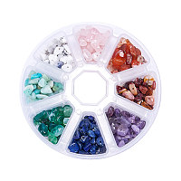 PandaHall Elite 1 Box Chip Gemstone Beads Crushed Pieces Stone Mixed Color for Jewelry Making