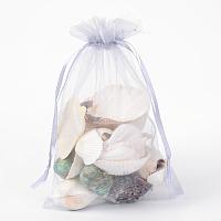 ARRICRAFT 100 PCS 5x7 inch LightGrey Organza Drawstring Bags Party Wedding Favor Gift Bags