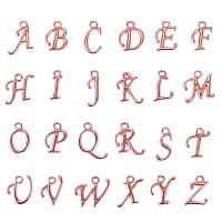ARRICRAFT 200pcs Assorted Alphabet Charm Pendant Loose Beads Rose Gold Plated A-Z Letter Pieces