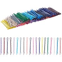 Arricraft 200 pcs 2 Inch Iron Bobby Hair Pins Colorful Hair Styling Clips with Plastic Storage Box for Women Girls, Mixed Colors