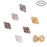 PandaHall Elite 24 Sets 6 Color Rhinestone Ball Magnetic Beads Clasp Buckle Bracelet Necklace Jewelry