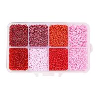 ARRICRAFT 1 Box About 8000pcs 12/0 Mixed Red Glass Seed Beads Diameter 2mm Round Loose Beads