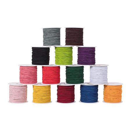 PandaHall Elite 14 Rolls 23 Yards/Roll 1mm Elastic Cord Beading Thread Stretch String Craft Cord for Bracelet Necklace Jewelry DIY Craft Making 14 Colors